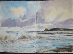 Scarborough, 25th September- watercolour sketchbook study