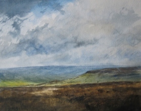 High Blakey Moor, North York Moors- watercolour