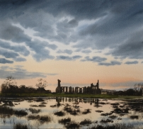 Byland Abbey. Watercolour. SOLD