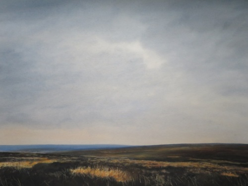 "North York Moors in winter. Watercolour  ""27x 21"""