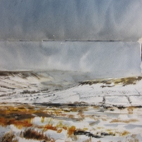 Potter's Nab from Blakey Ridge- watercolour in sketchbook