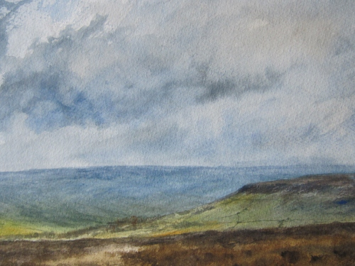 Farndale from Blakey Ridge- watercolour