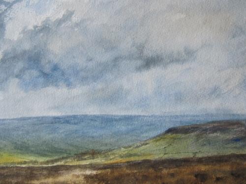 Farndale from Blakey Ridge- watercolour
