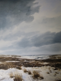 Snow above Rosedale. Available at my studio. £450.