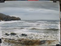 Sandsend, Whitby. Watercolour. SOLD
