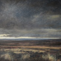 North York Moors in October. Oil.